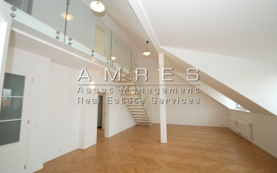 Duplex apartment 6+1, 199 m2, with a terrace and 2 balconies,Prague 2- Vinohrady