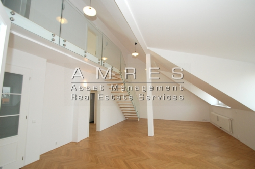 Duplex apartment 5+1, 199 m2, with a terrace and 2 balconies,Prague 2- Vinohrady