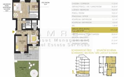 Kompletně rekonstruovaný byt 4+kk (111 m2) s privátní zahradou,Praha 7-Šmeralova