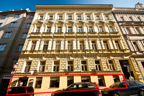 Rent of a commercial premises 148 m2, Prague 1- Zlatnicka street