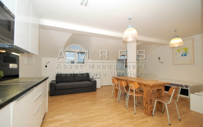 Beautiful apartment 2+kk/B, 61 m2, with a view of the Castle, Prague 1